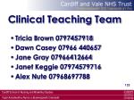 clinical teaching team