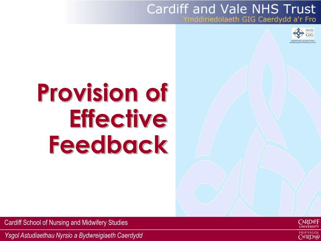 Provision of Effective Feedback
