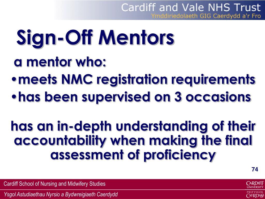 Sign-Off Mentors