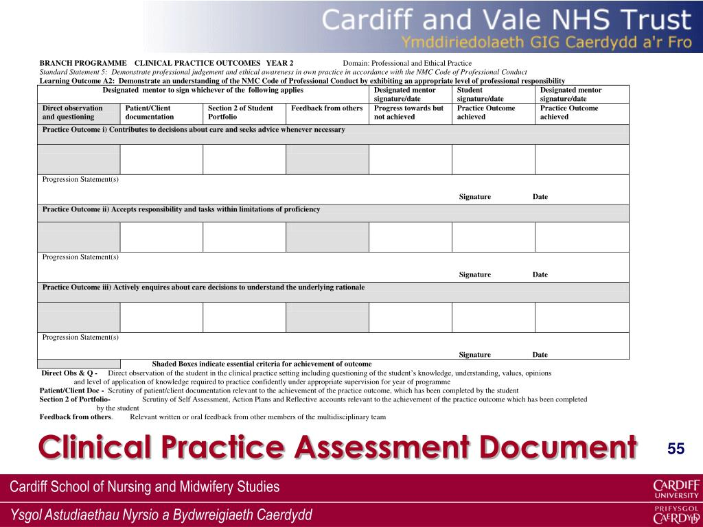 Clinical Practice Assessment Document