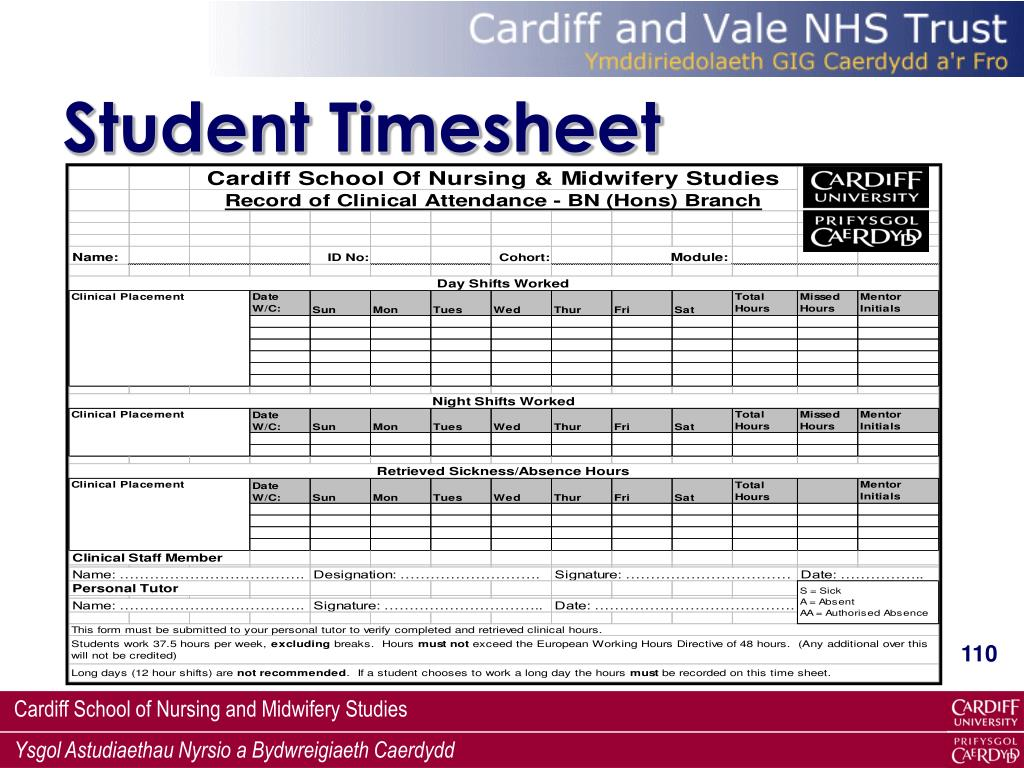Student Timesheet