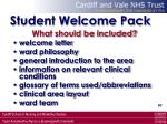 student welcome pack