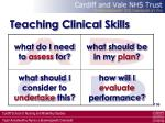 teaching clinical skills106