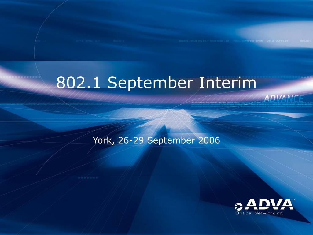 802.1 September Interim