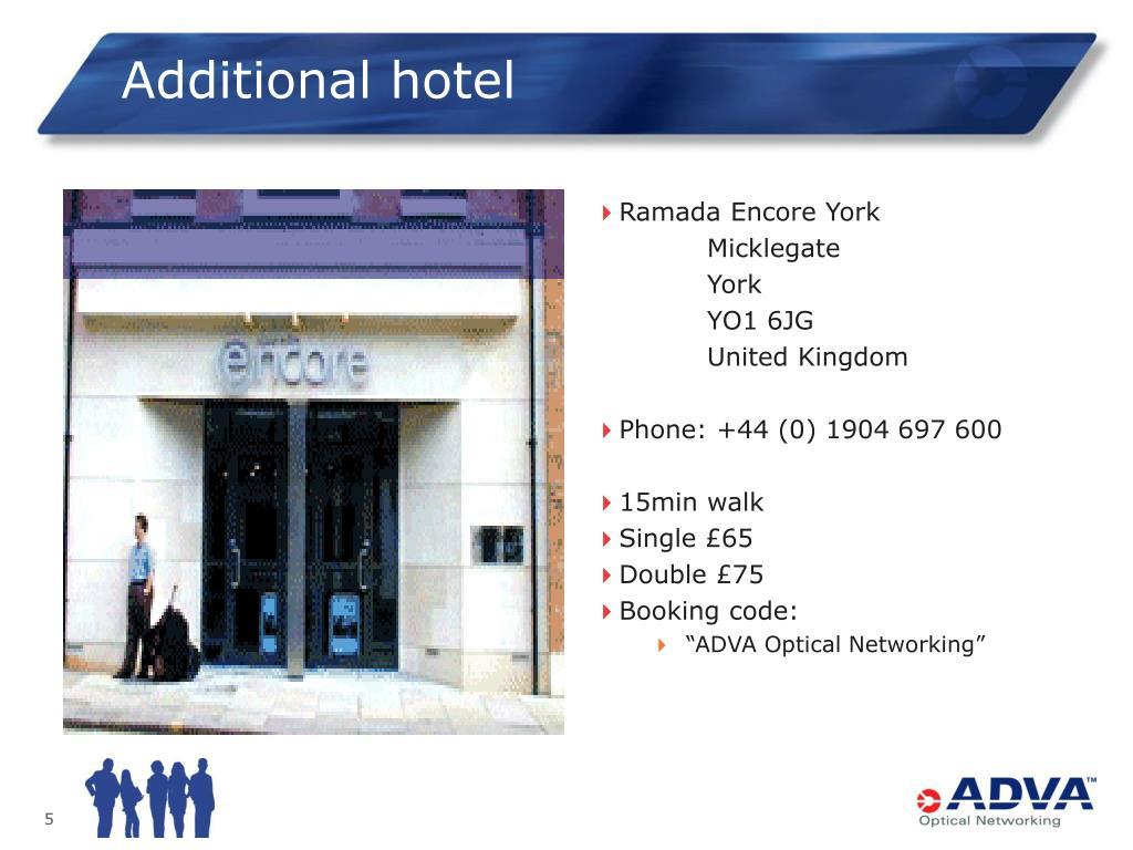 Additional hotel