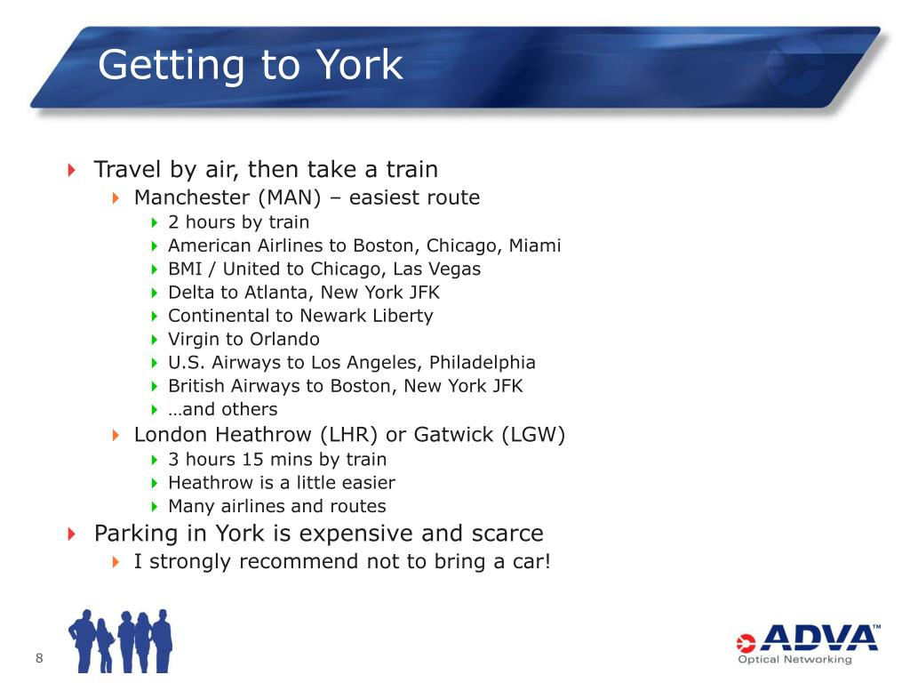 Getting to York