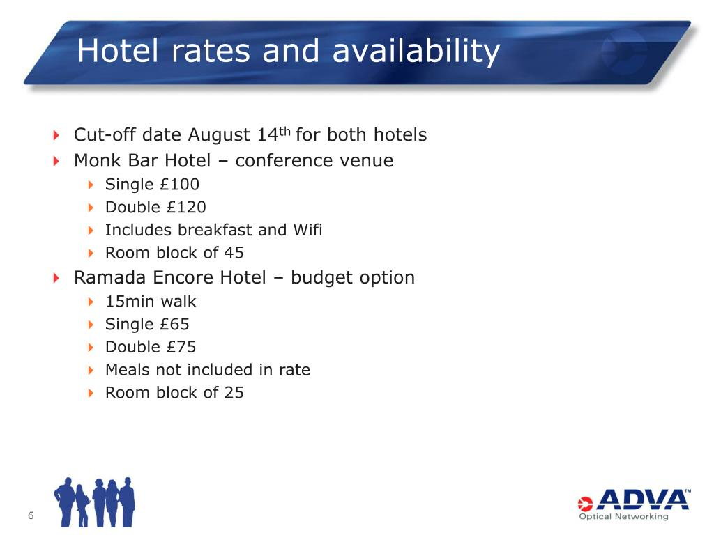 Hotel rates and availability
