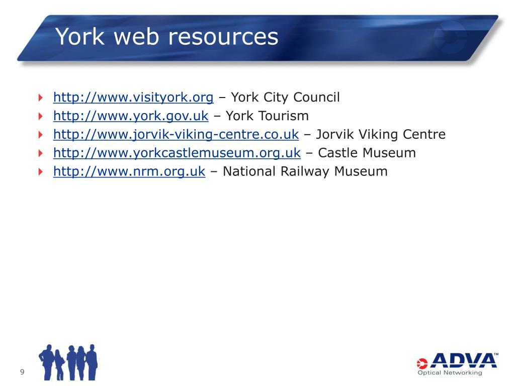 York web resources