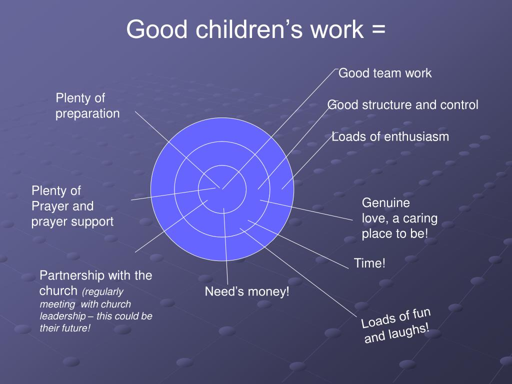 Good children's work =