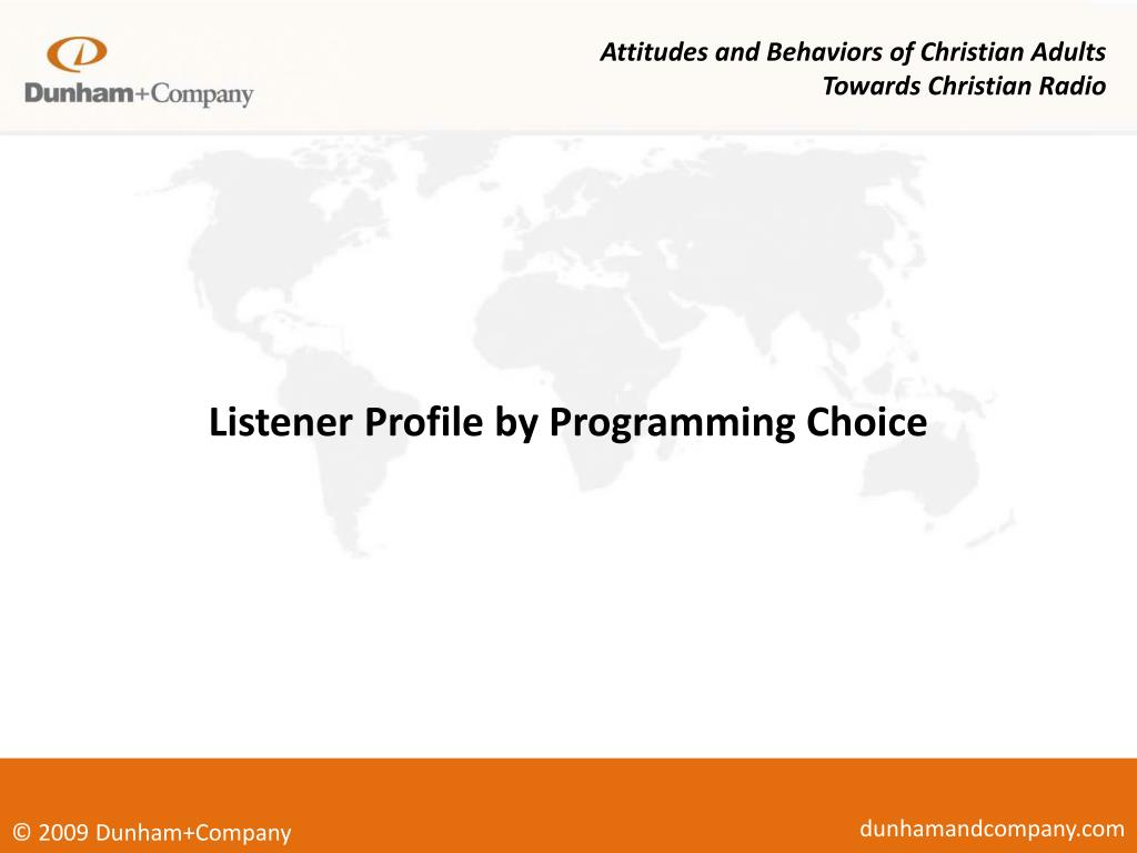 Attitudes and Behaviors of Christian Adults