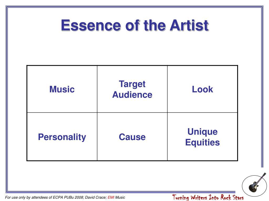 Essence of the Artist