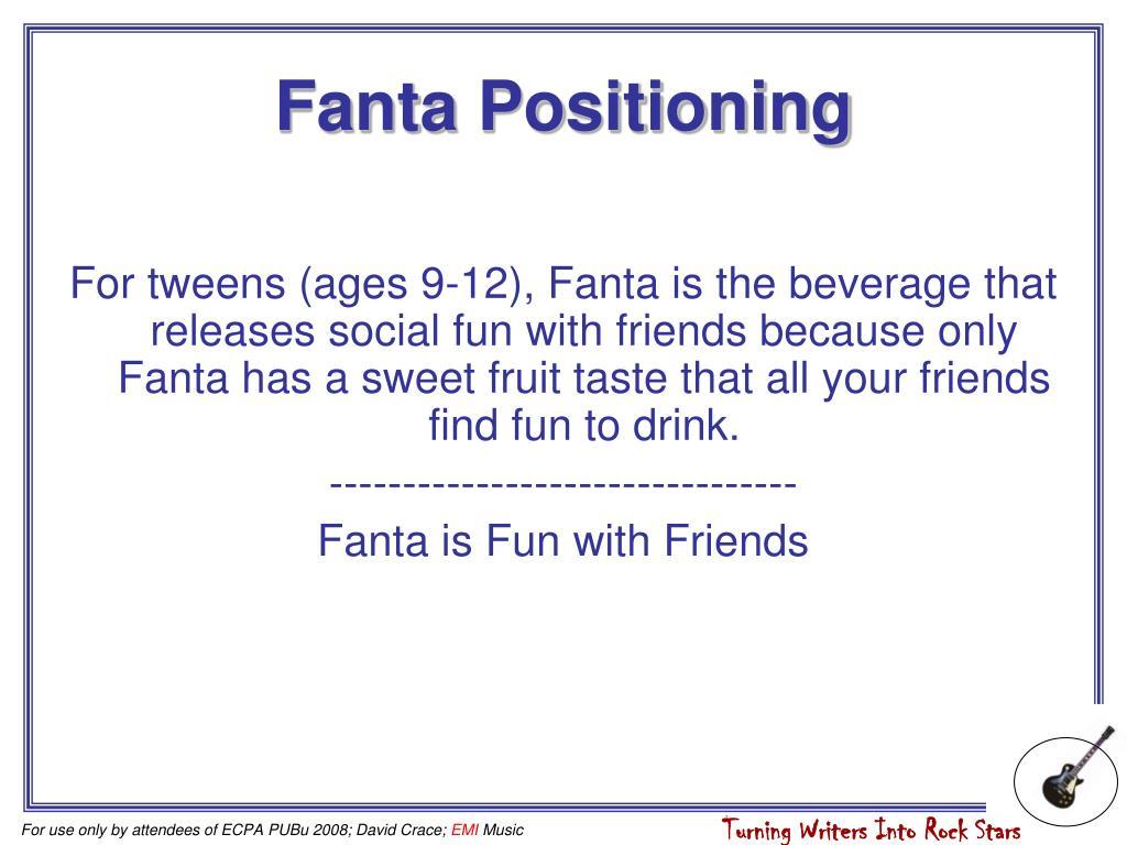 Fanta Positioning