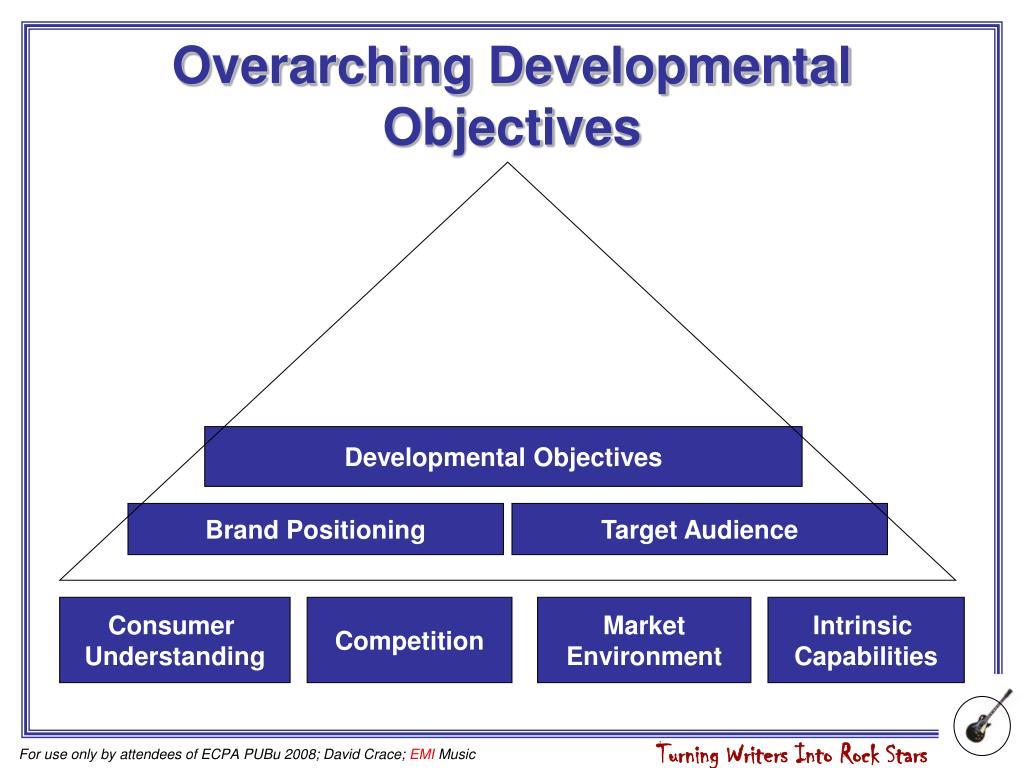 Overarching Developmental Objectives