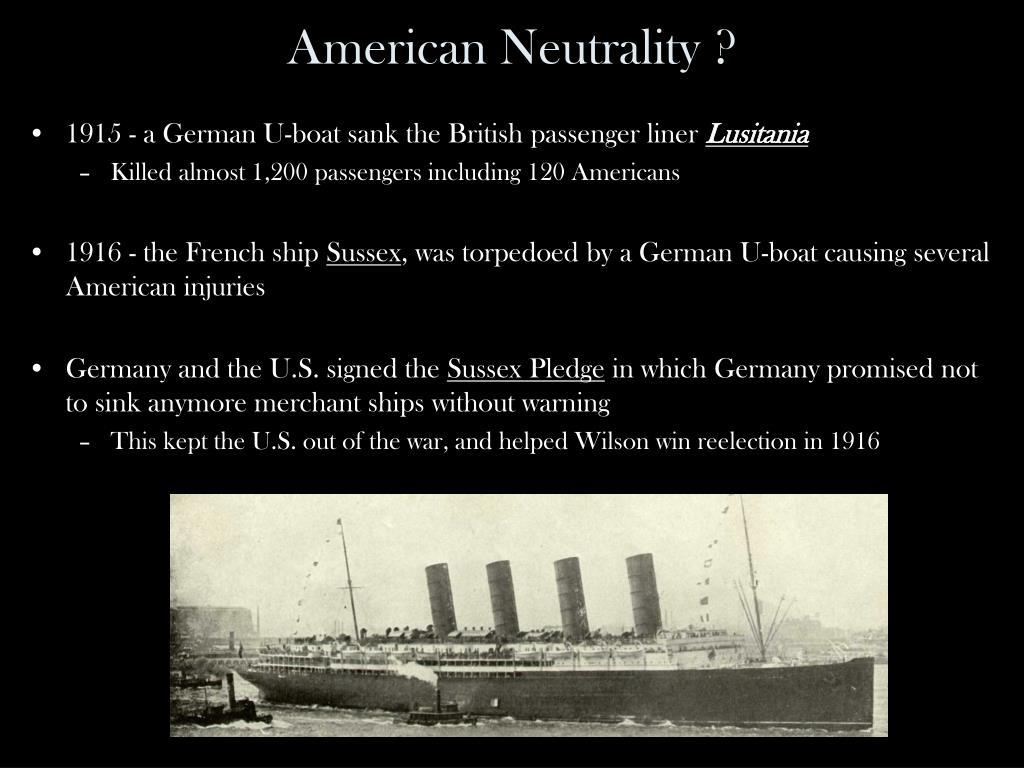 American Neutrality ?
