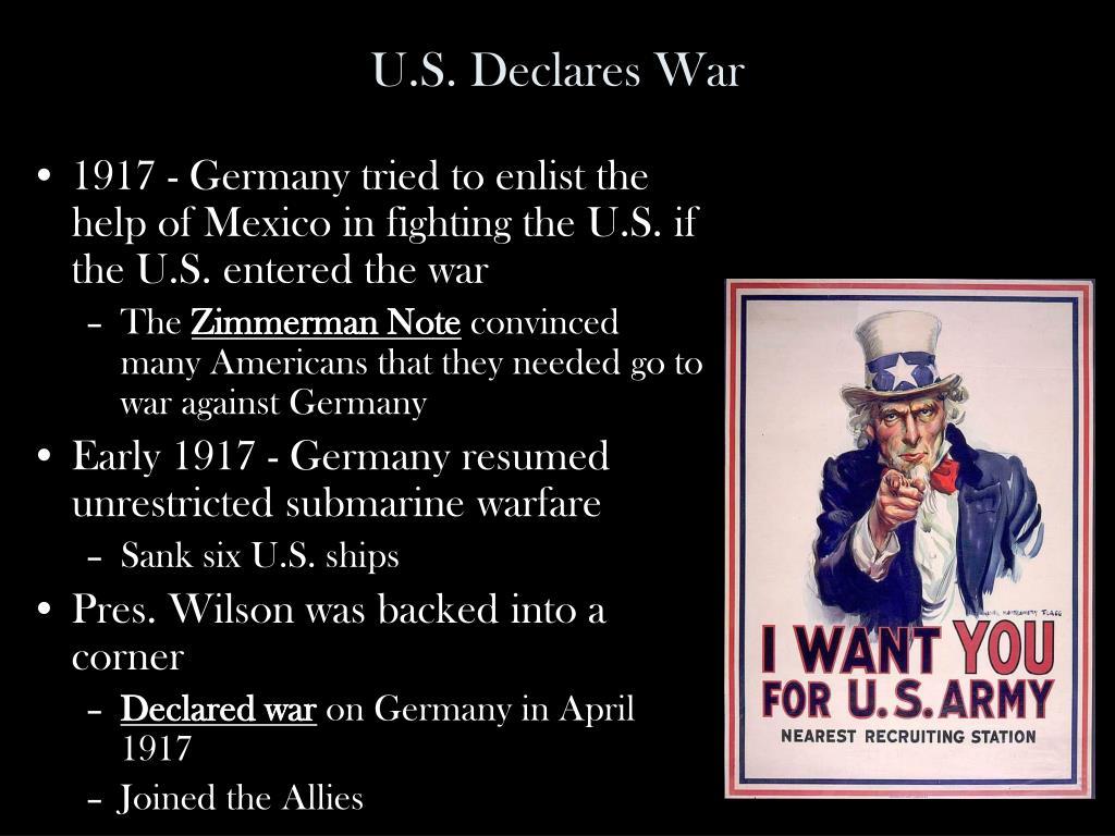 U.S. Declares War