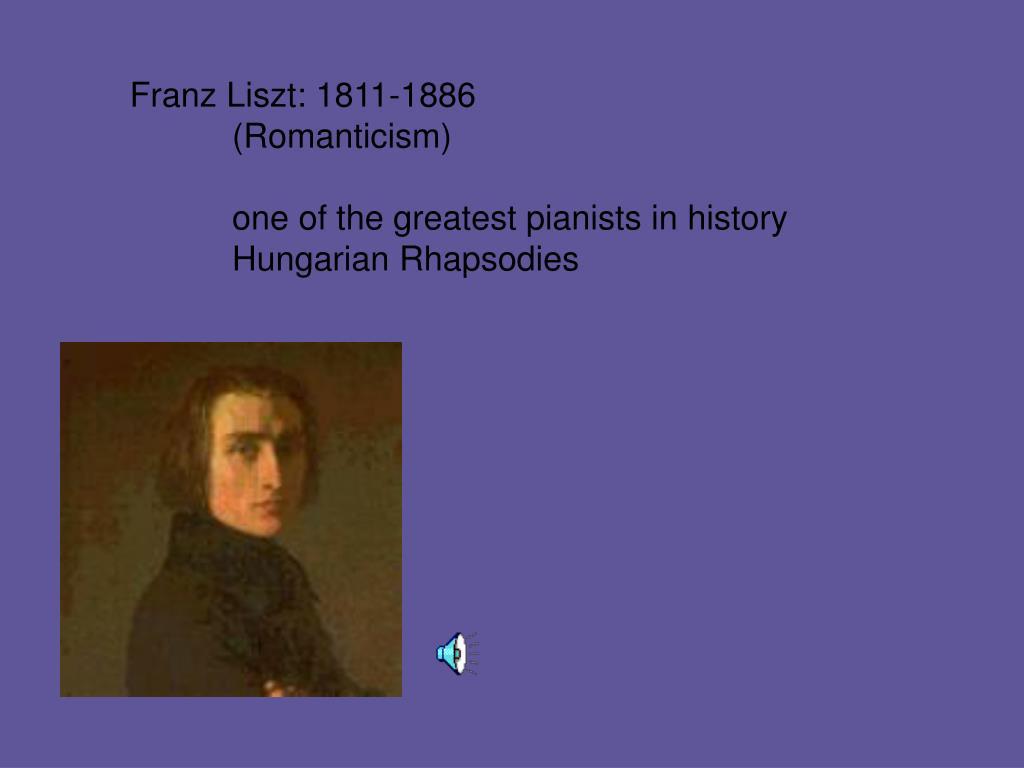 Franz Liszt: 1811-1886