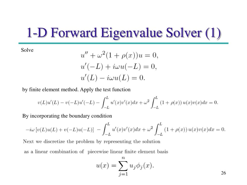 1-D Forward Eigenvalue Solver (1)