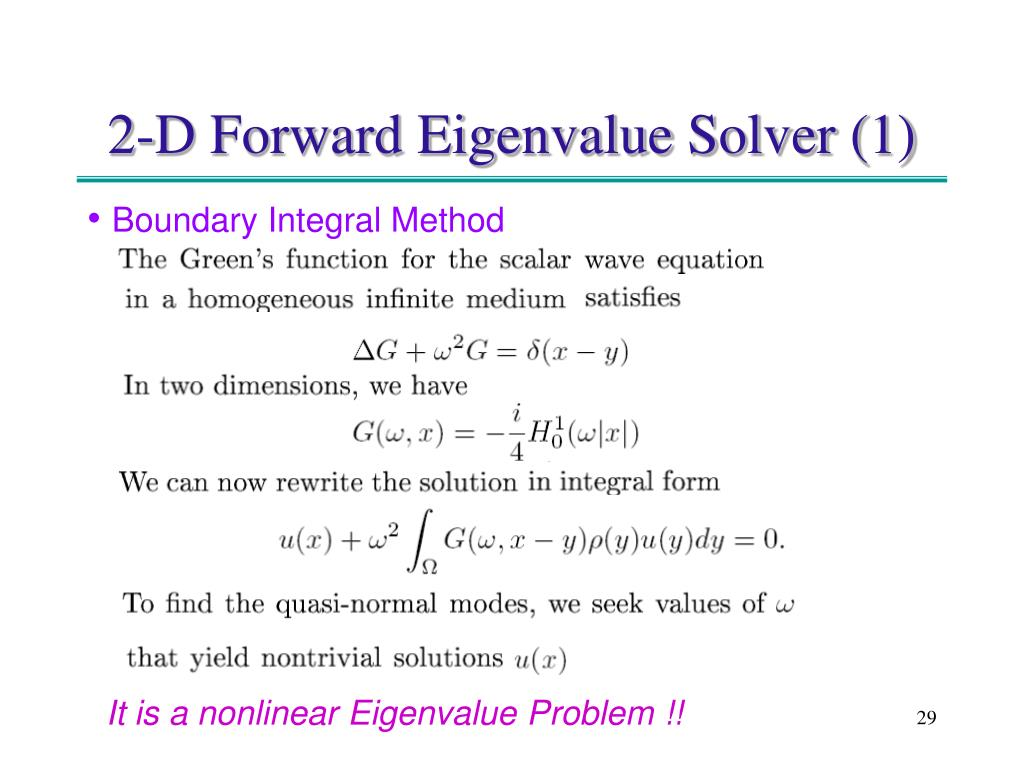 2-D Forward Eigenvalue Solver (1)
