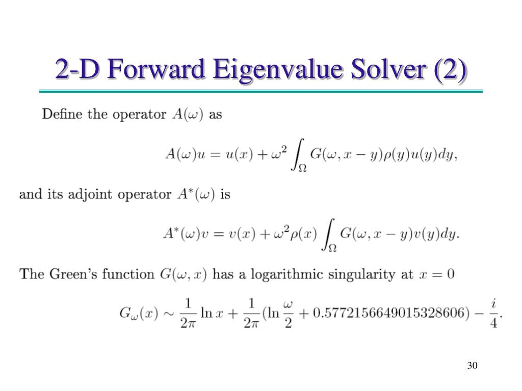 2-D Forward Eigenvalue Solver (2)