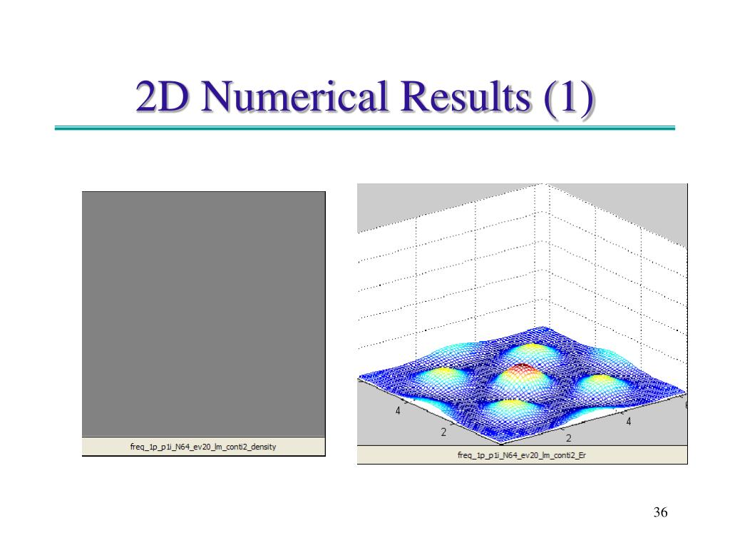 2D Numerical Results (1)