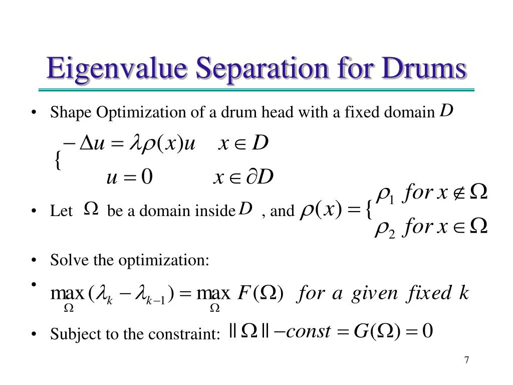 Shape Optimization of a drum head with a fixed domain