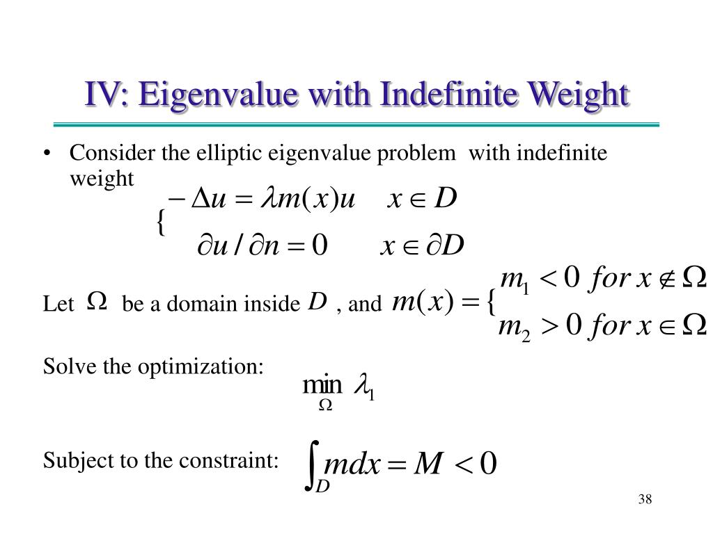 Consider the elliptic eigenvalue problem  with indefinite weight
