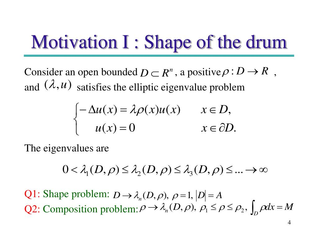 Motivation I : Shape of the drum