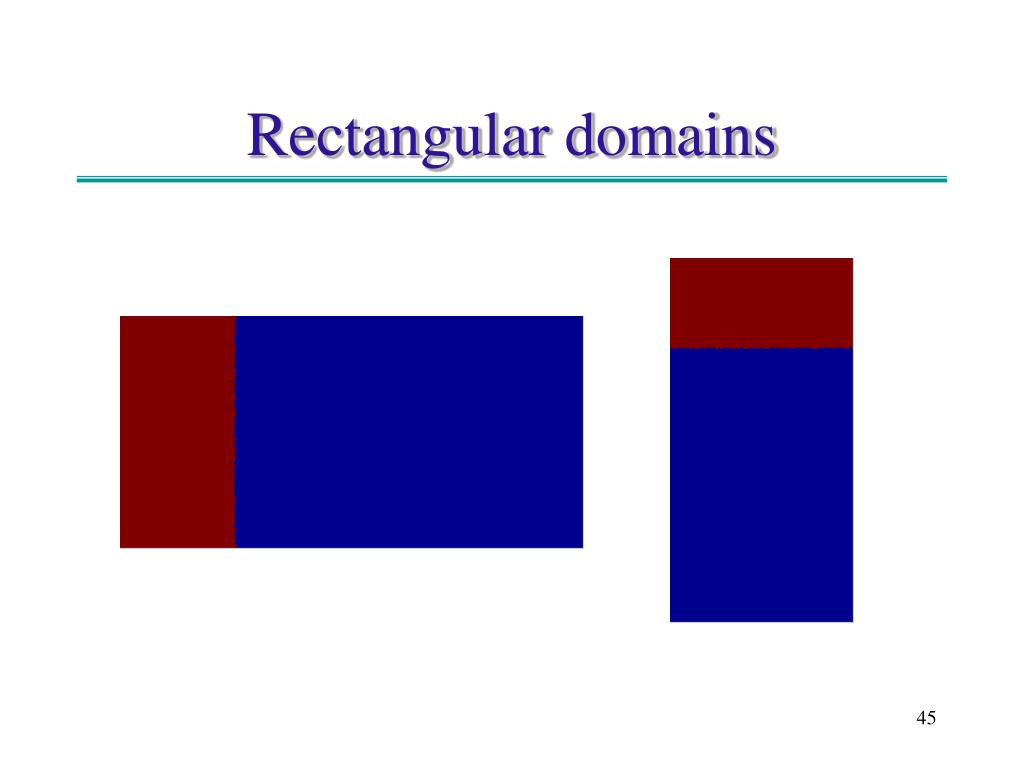 Rectangular domains