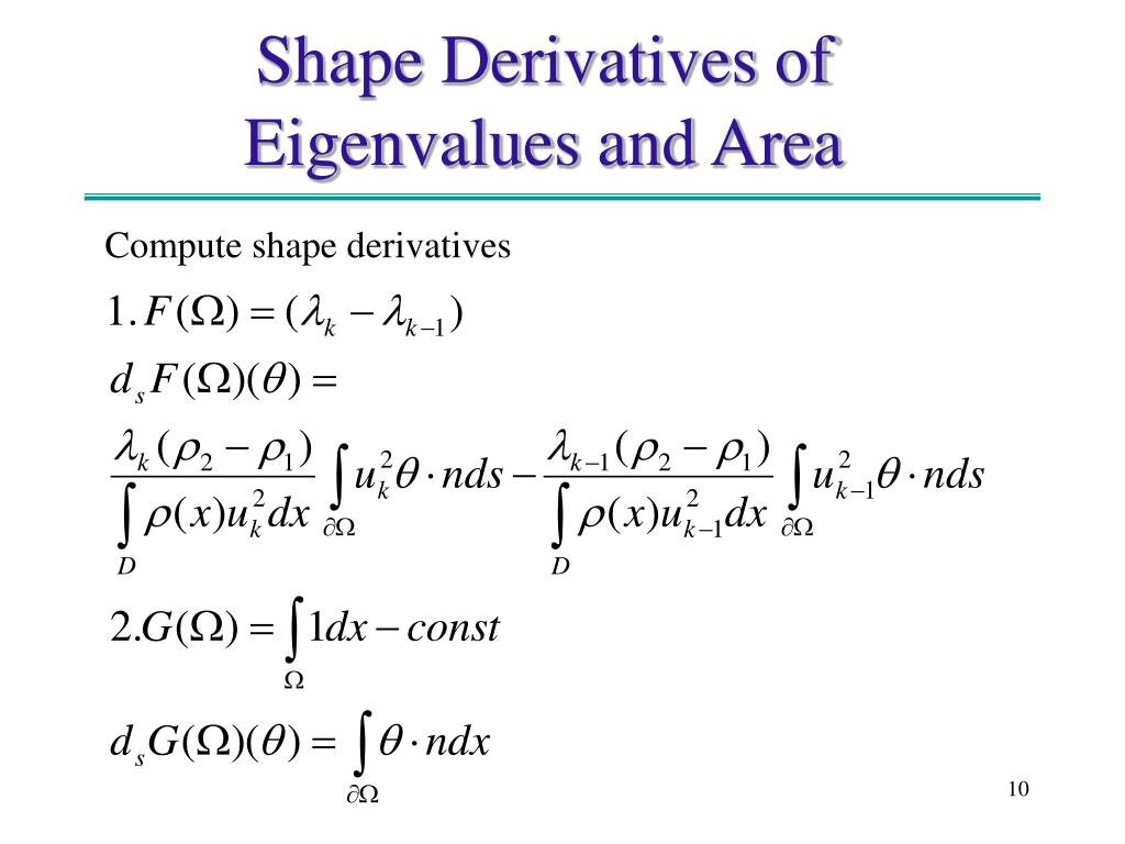 Compute shape derivatives