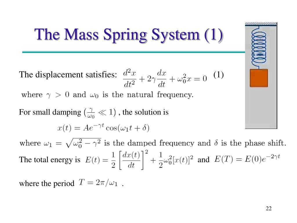 The Mass Spring System (1)