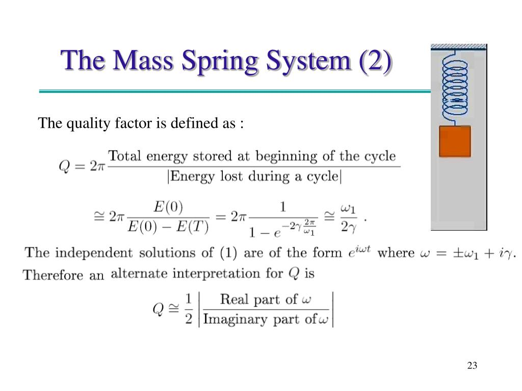 The Mass Spring System (2)