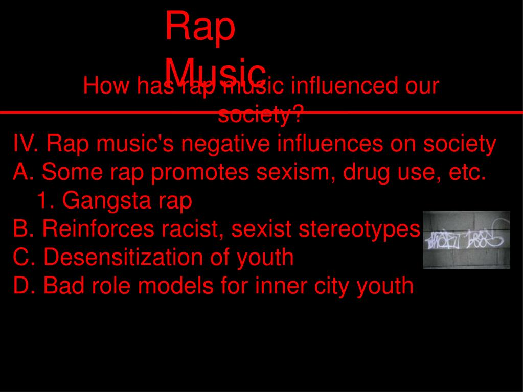 IV. Rap music's negative influences on society