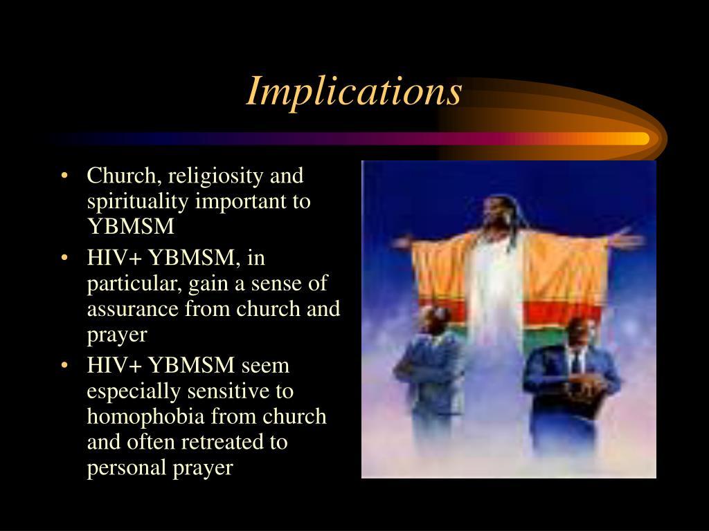 Church, religiosity and spirituality important to YBMSM