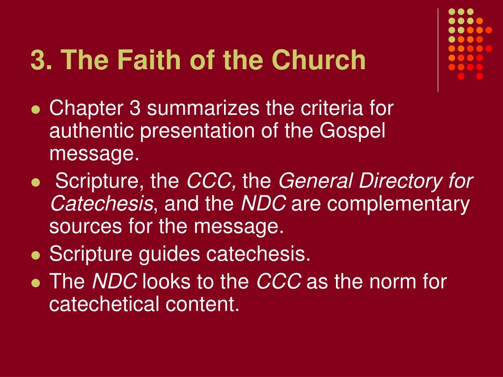 3. The Faith of the Church