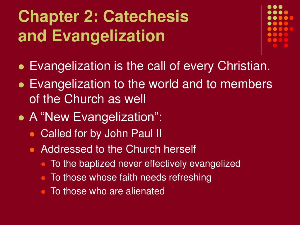 Chapter 2: Catechesis
