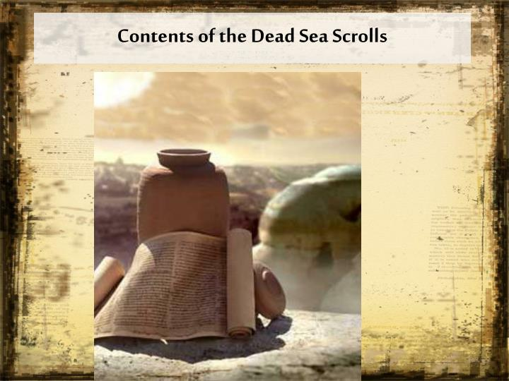 Contents of the Dead Sea Scrolls