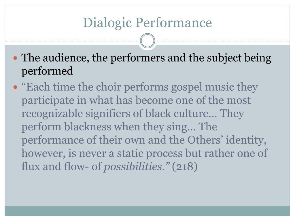 Dialogic Performance