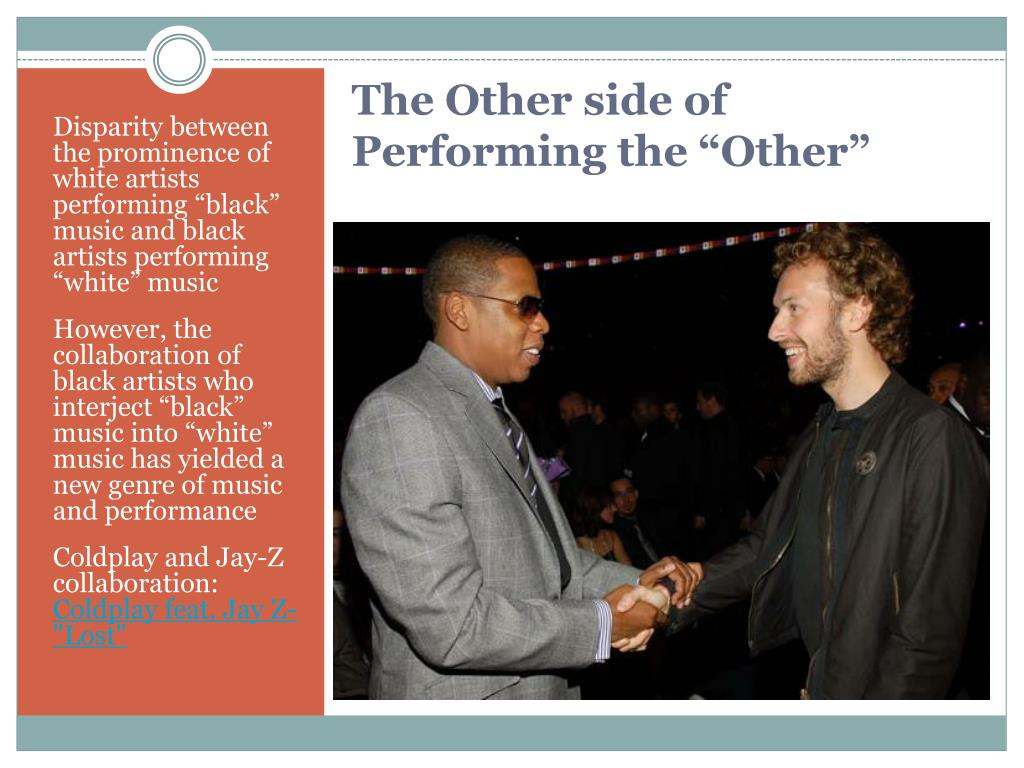 "Disparity between the prominence of  white artists performing ""black"" music and black artists performing ""white"" music"