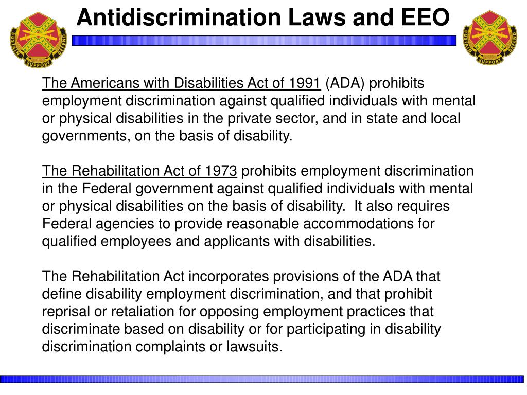 Antidiscrimination Laws and EEO
