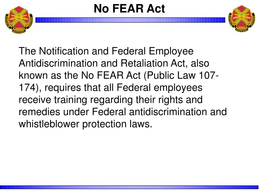 No FEAR Act