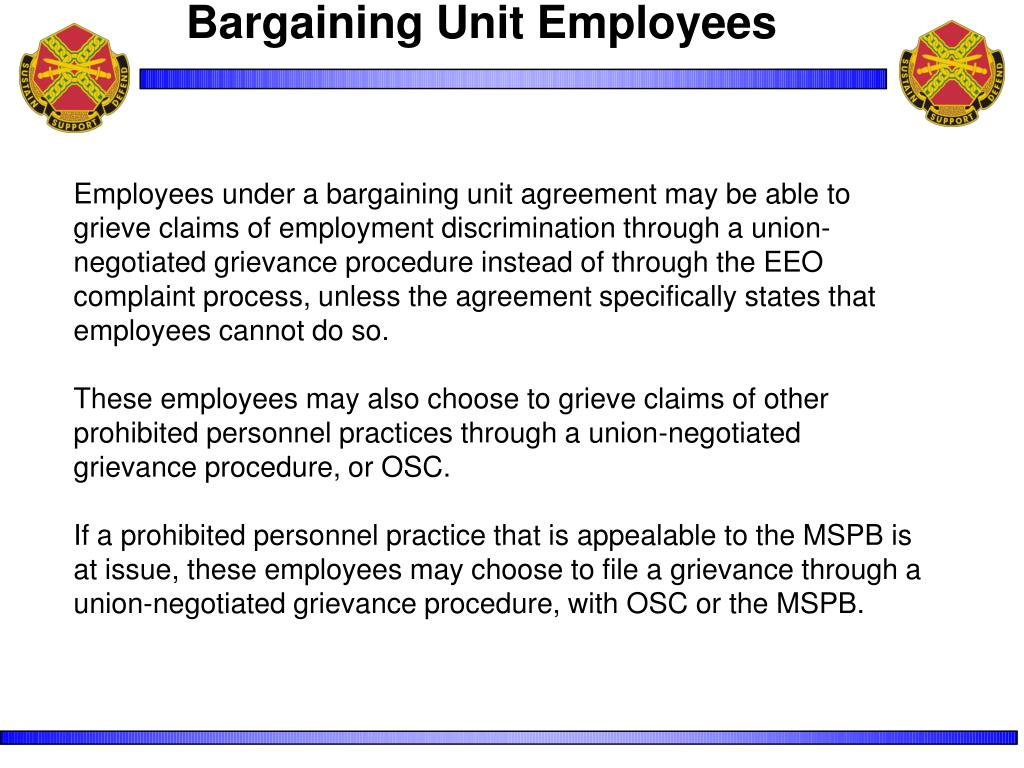 Bargaining Unit Employees