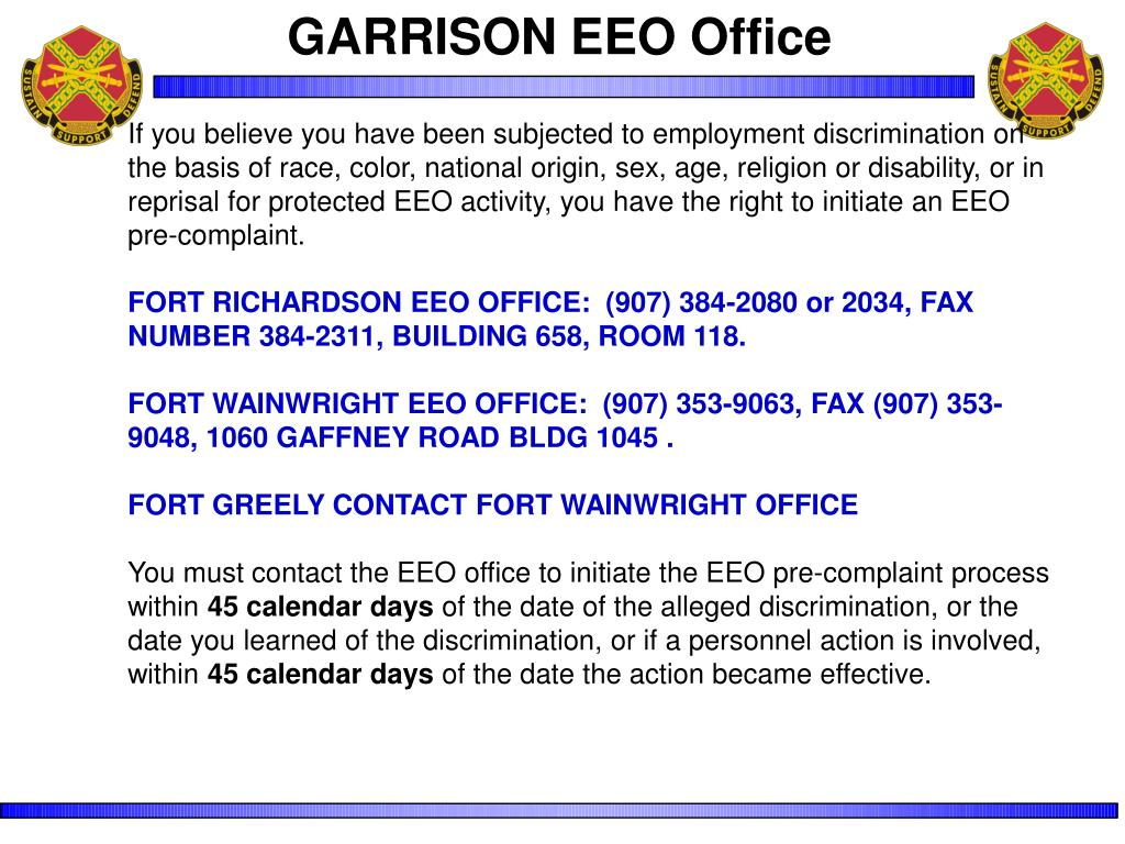 GARRISON EEO Office
