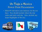 un viaje a mexico power point presentation8