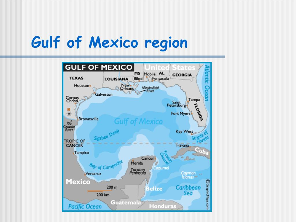 Gulf of Mexico region