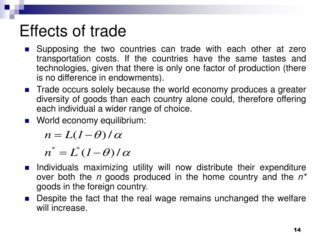 Effects of trade