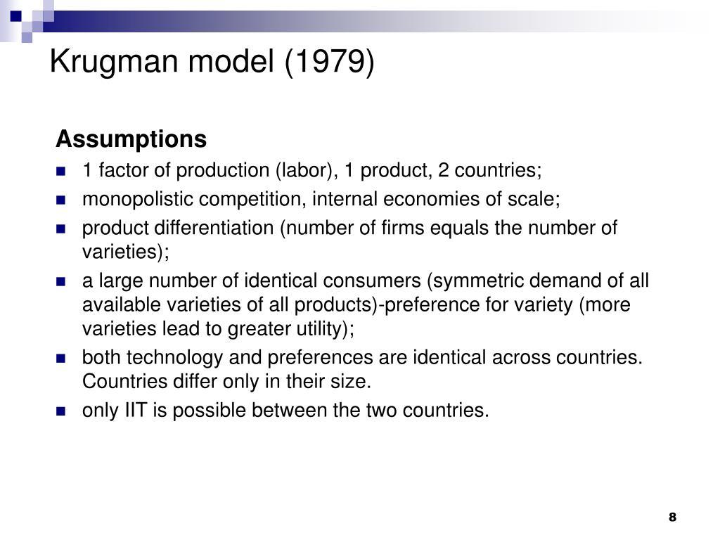 Krugman model (1979)