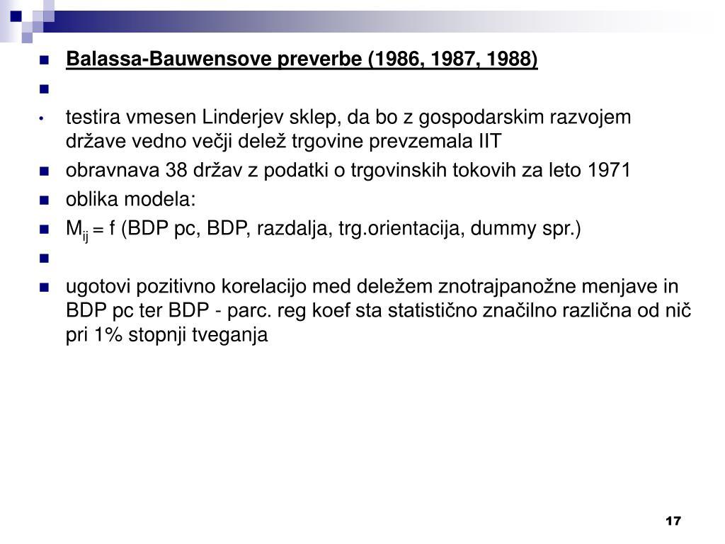 Balassa-Bauwensove preverbe (1986, 1987, 1988)