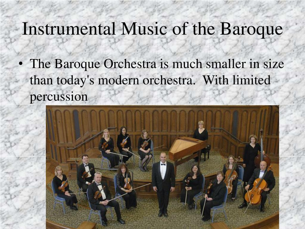 Instrumental Music of the Baroque