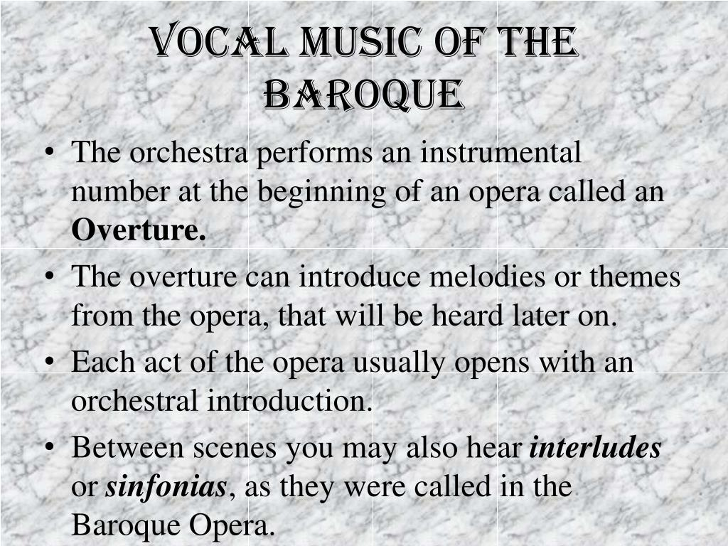 Vocal music of the baroque