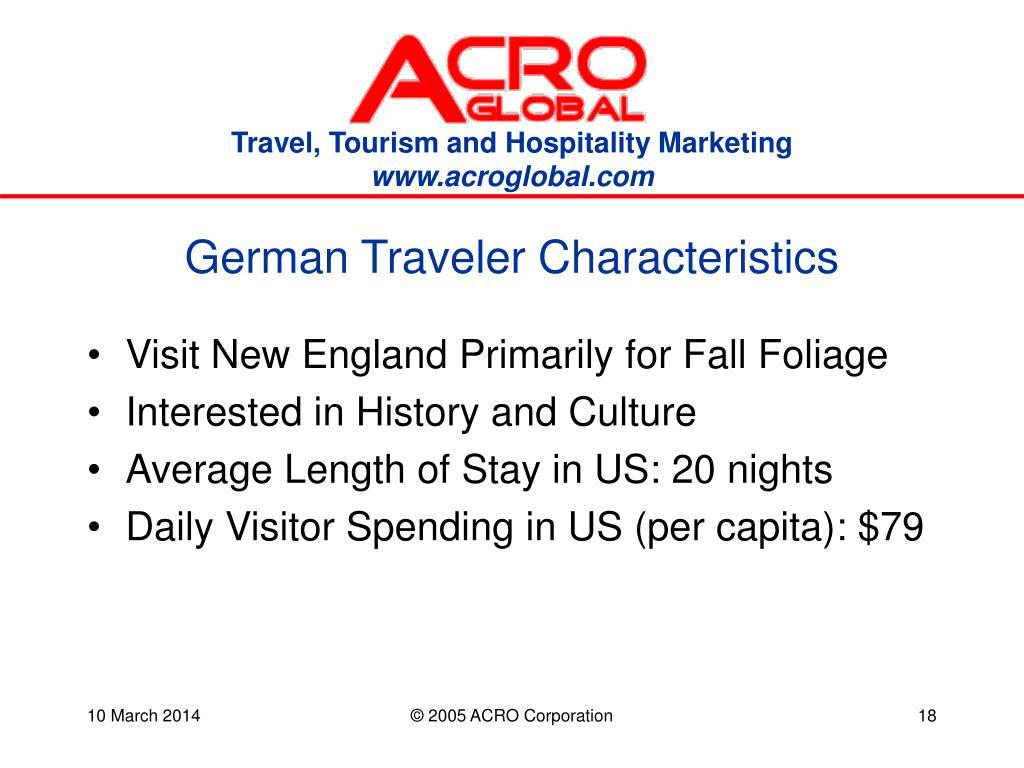 German Traveler Characteristics